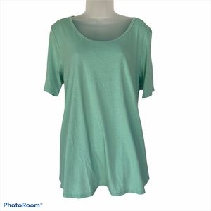 Lularoe Perfect T Mint Green Short Sleeved L NWT
